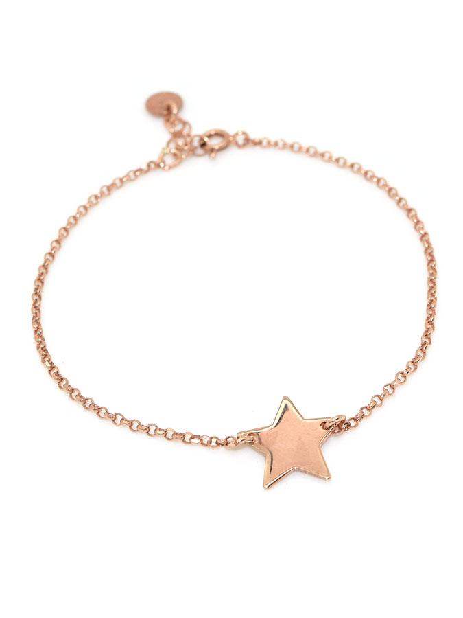 taglia 40 89b02 b35cb bracciale in argento rosa con stella , BRACCIALI , ARGENTO - Vendita online  gioielli in Argento, Pietre Naturali e perle, Vendita Bracciali, Collane ...