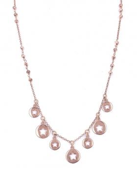 Collana in argento rosa con stelle