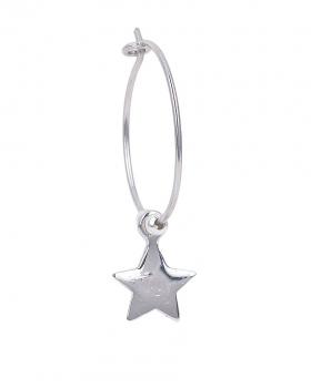 Orecchino singolo in argento con stella