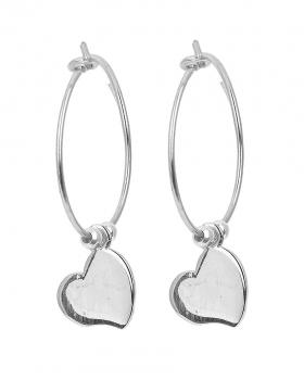Orecchini in argento con cuore
