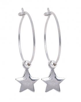 Orecchini in argento con stella
