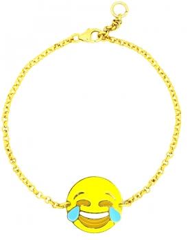 Bracciale Emoticons Social faccina che piange e ride