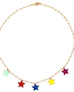 Collana stelle multicolore