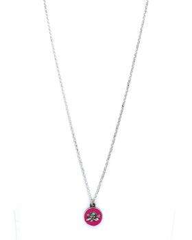 collana in argento con pendente angelo smaltato