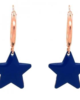 Orecchini campanella con stella blu
