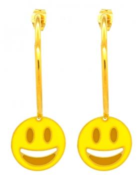 Orecchini Emoticons Social faccina che ride