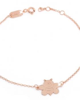 Bracciale in argento rosa con ape