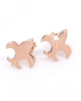 orecchini in argento rosa con giglio